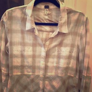 Free People soft plaid button up